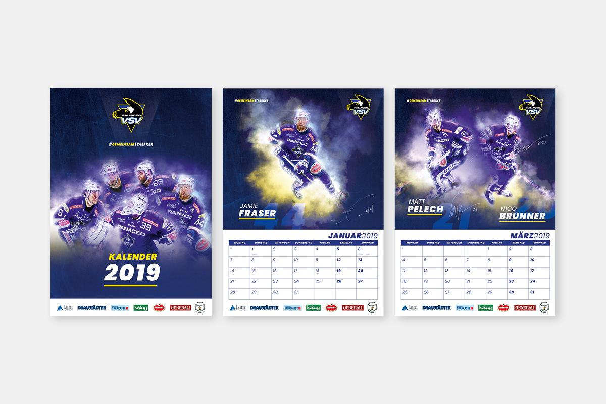 EC Panaceo VSV Kalender Saison 2018/19
