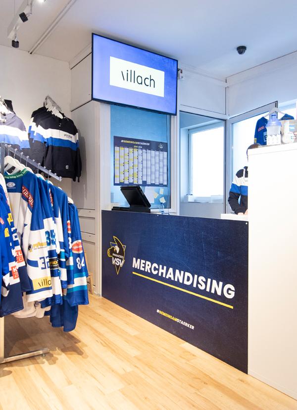 EC Panaceo VSV Fanshop Innengestaltung Saison 2018/19