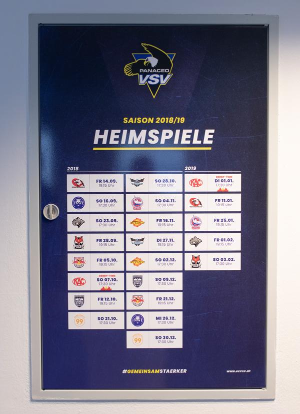 EC Panaceo VSV Heimspiele Saison 2018/19